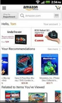 Amazon Mobile Android Shoe Shopping App