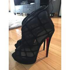 Christian Louboutin Altarakna Mesh-Caged Red Sole Bootie