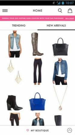 Justfab Android Shoe Shopping App