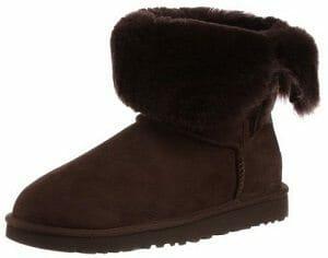 UGG Womens Bailey Button Winter Boot Sheepskin Unbuttoned Look