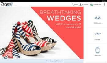 Zappos Android Shoe Shopping App
